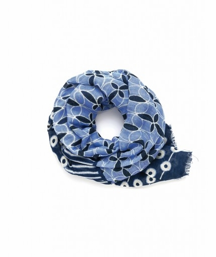 Bands of Blue Whitaker Scarf by Spartina 449