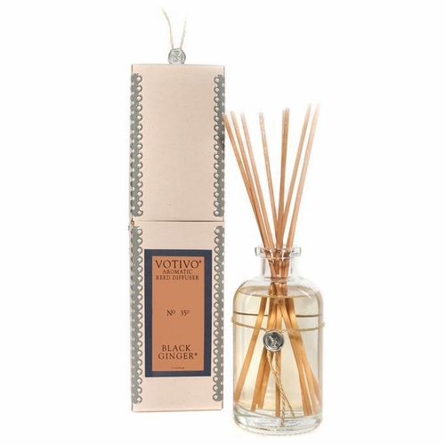 Black Ginger Aromatic Reed Diffuser Votivo Candle