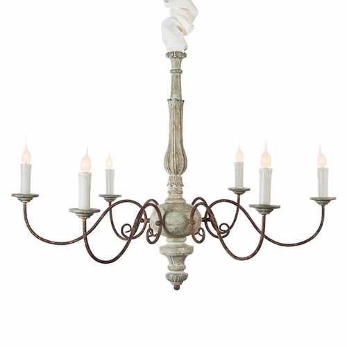 Blue Cream Avignon Chandelier by Aidan Gray