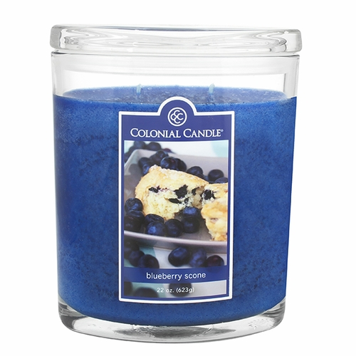 Blueberry Scone 22 oz. Oval Jar Colonial Candle