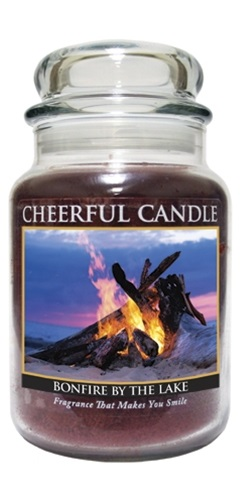 """A Cheerful Giver /""""Bonfire By The Lake Jar Candle 24-Ounce"""