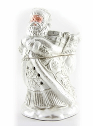 Brushed Platinum Santa Radiant Fragrance Warmer