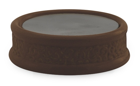 Ceramic Candle Warmer ~ Century brown ceramic plate candle warmer