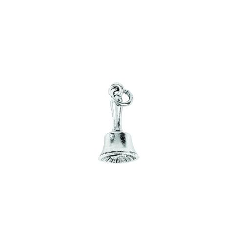 Charm Silver School Bell by Beaucoup Designs