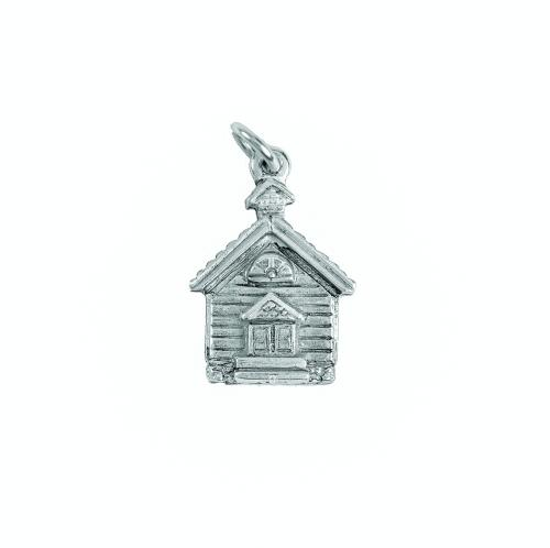 Charm Silver School House by Beaucoup Designs