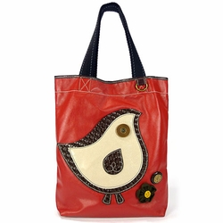 ChiChik Bird Everyday Tote - Leather - Orange