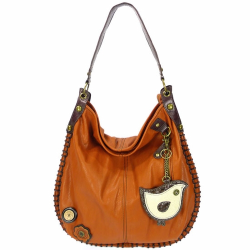 ChiChik Bird Hobo Handbag - Orange