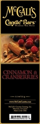 Cinnamon & Cranberries McCall's Candle Bar | Candle Bars by McCall's