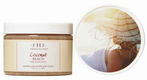 Coconut Beach Shea Sugar Scrub 13.6 oz. by Farmhouse Fresh