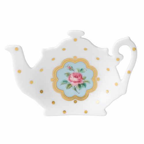 New Country Roses Tea Party Tea Tip/Bag Rest by Royal Albert (Avail. October) - Special Order