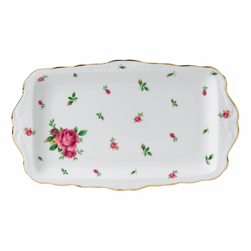 New Country Roses White Sandwich Tray by Royal Albert - Special Order