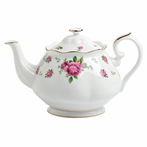 New Country Roses White Teapot by Royal Albert - Special Order