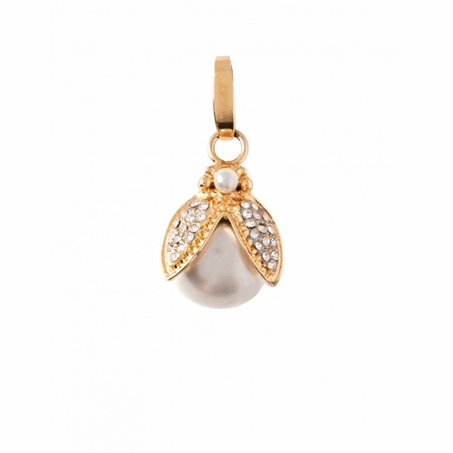 Crystal & Pearl Love Bug Charm - Style Spartina 449