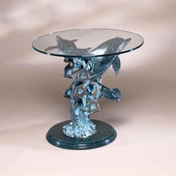 Dolphin Seaworld End Table   SPI Home (Special Order)