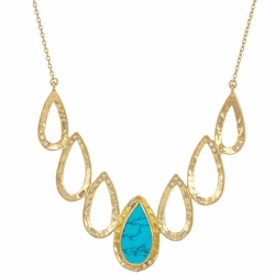 Dorothy Necklace - Gold Turquoise White - Melinda Maria