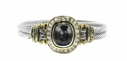 Double Wire Bracelet with Pave - Black - John Medeiros
