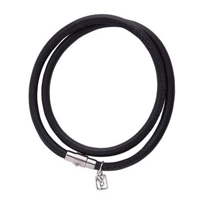 Ebony Nestel Leather Bracelet by Waxing Poetic
