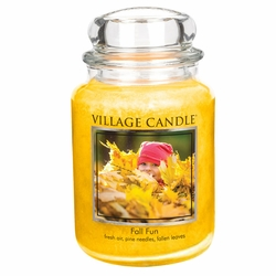 *Fall Fun 26 oz. Premium Round by Village Candles | Village Candles Closeouts