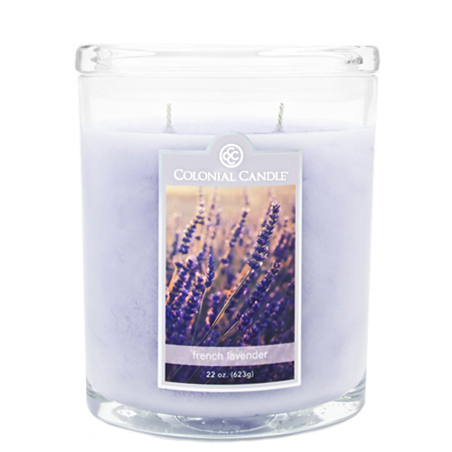 French Lavender 22 oz. Oval Jar Colonial Candle