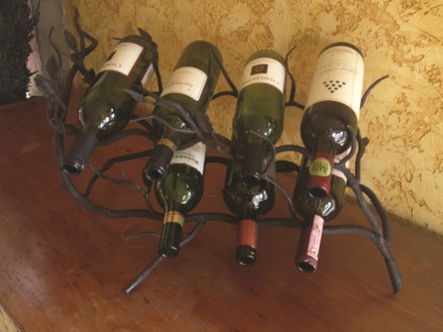 Fruitwood 7-Bottle Wine Rack by Bella Toscana