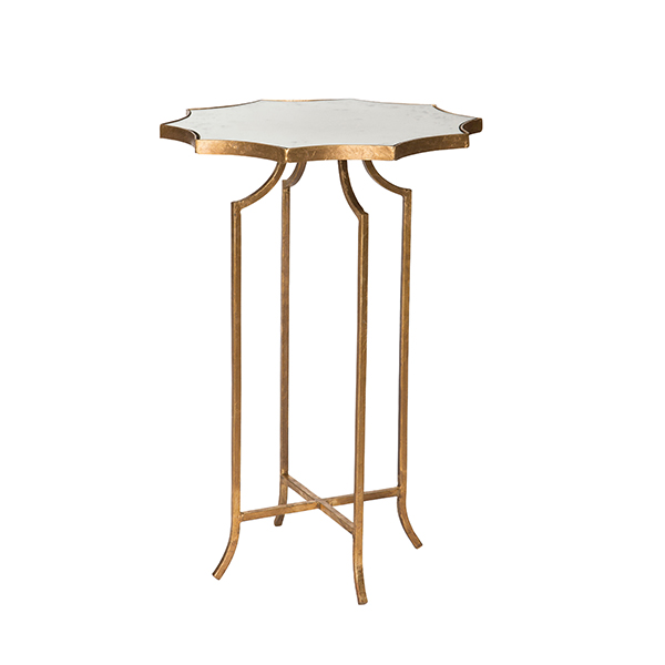 Glass top giusti occasional table by aidan gray for Glass top occasional tables