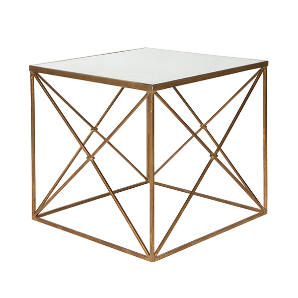 Gold furano side table by aidan gray for Table 6 in as 3725
