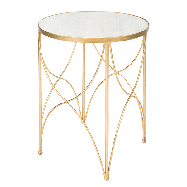 Gold halmstad side table by aidan gray for Table 6 in as 3725