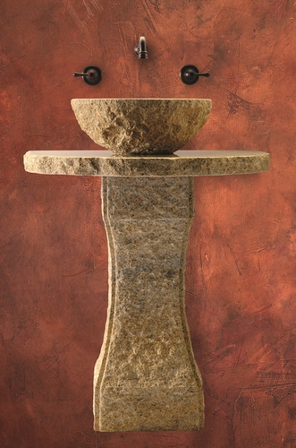 Gold Pillar Divine Pedestal by Bella Toscana