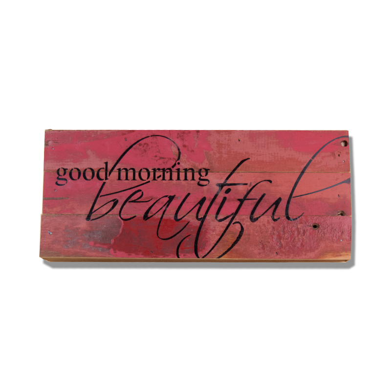 Good Morning Beautiful Wall Art : Good morning beautiful quot wall art red second