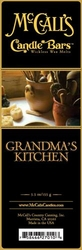 Grandma's Kitchen McCall's Candle Bar | Candle Bars by McCall's