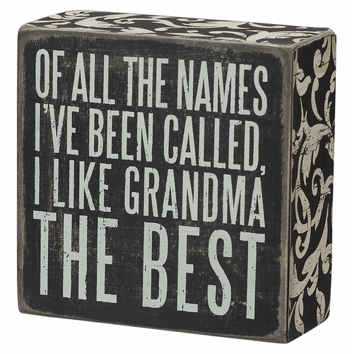 Grandma the Best Box Sign - Primitives by Kathy