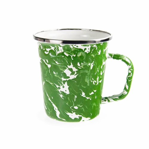 New Green Swirl 16 oz. Latte Mug by Golden Rabbit
