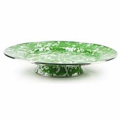New Green Swirl Cake Plate by Golden Rabbit