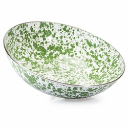 New Green Swirl Catering Bowl by Golden Rabbit