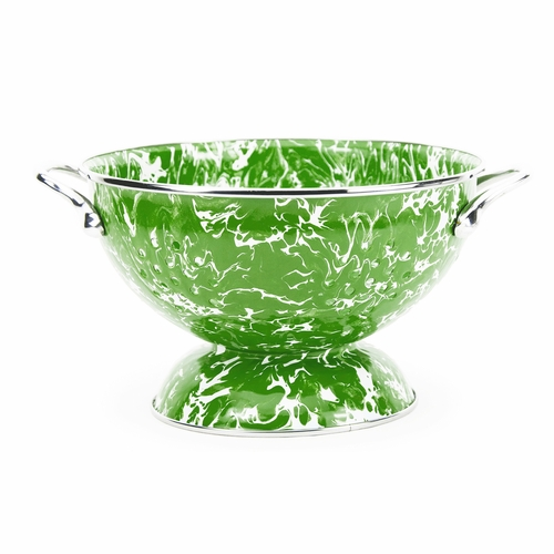 New Green Swirl Colander by Golden Rabbit