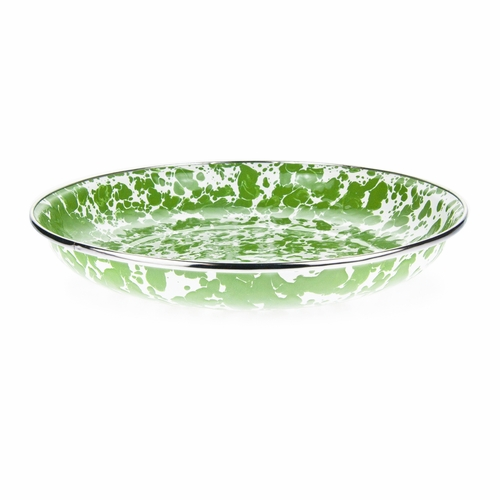 New Green Swirl Pasta Plate by Golden Rabbit