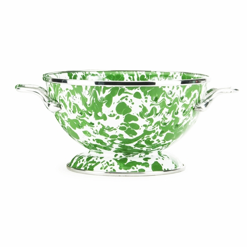 New Green Swirl Petite Colander by Golden Rabbit