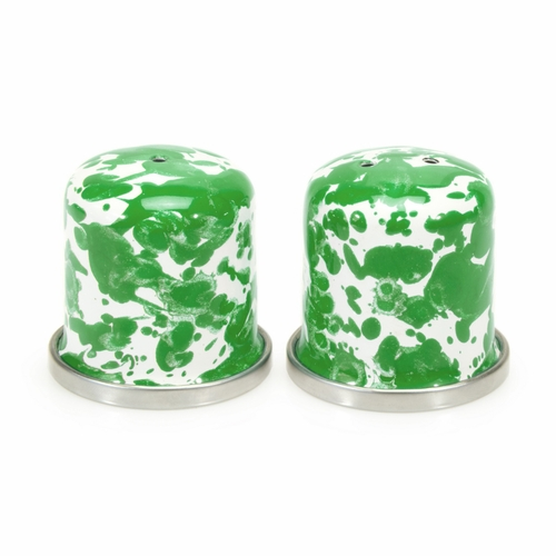 New Green Swirl Salt & Pepper Shakers by Golden Rabbit