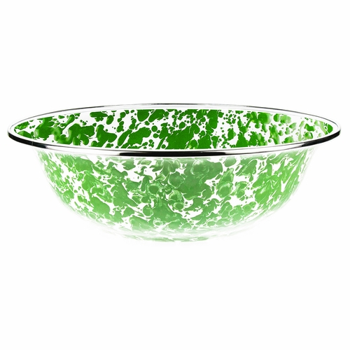 New Green Swirl Serving Bowl by Golden Rabbit