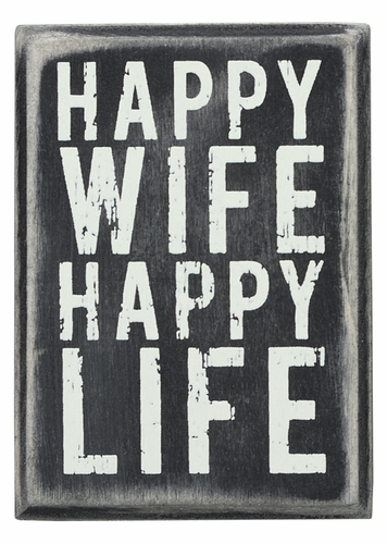 Happy Wife Box Sign - Primitives by Kathy