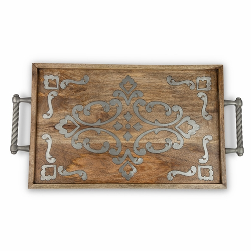Heritage Wood & Metal Bed Tray - GG Collection