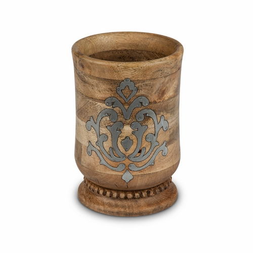 Heritage Wood & Metal Utensil Holder - GG Collection