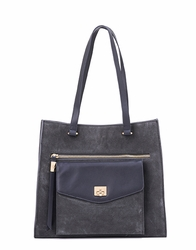 Indigo Gray Suede Tote by Spartina 449