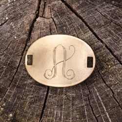 "Laiton ""A"" Monogram Charm by Beaucoup Designs"