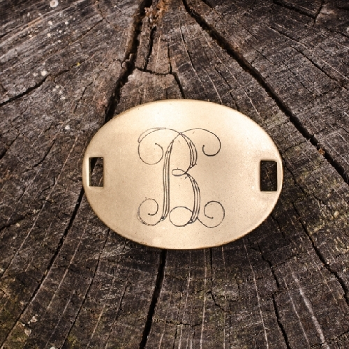 "Laiton ""B"" Monogram Charm by Beaucoup Designs"