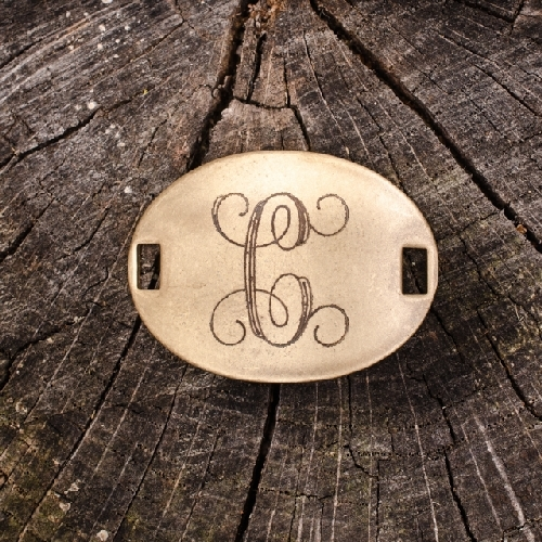 "Laiton ""C"" Monogram Charm by Beaucoup Designs"