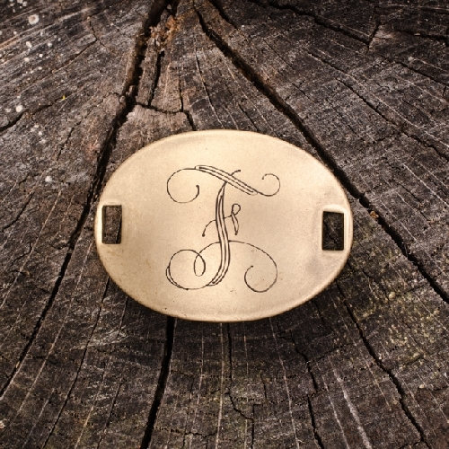 """Laiton """"F"""" Monogram Charm by Beaucoup Designs"""