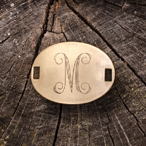 "Laiton ""M"" Monogram Charm by Beaucoup Designs"