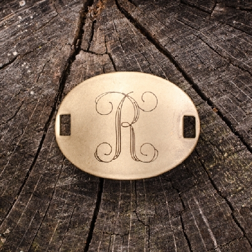 """Laiton """"R"""" Monogram Charm by Beaucoup Designs"""