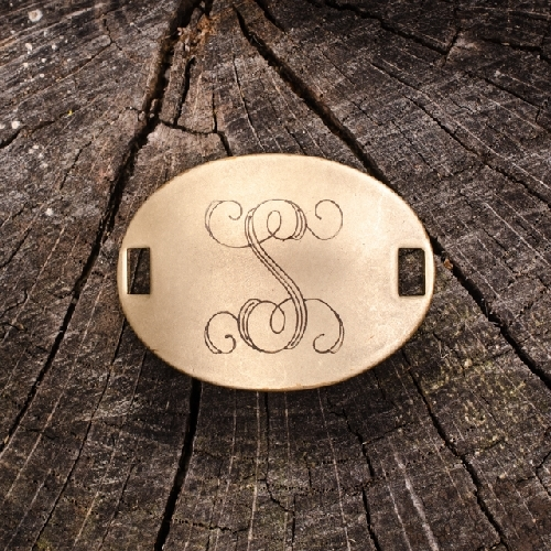 "Laiton ""S"" Monogram Charm by Beaucoup Designs"